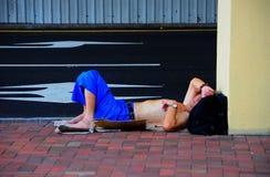 Hombre sin hogar Imágenes de archivo libres de regalías