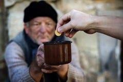 Hombre sin hogar foto de archivo libre de regalías