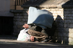 Hombre sin hogar Fotografía de archivo libre de regalías