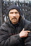 Hombre sin hogar. foto de archivo libre de regalías