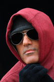 Hombre sin hogar en el frío Fotografía de archivo