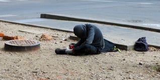 Hombre sin hogar en New Orleans Foto de archivo libre de regalías