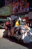 Hombre sin hogar en Nueva York Imagen de archivo
