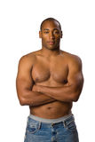 Hombre sin la camisa Fotografía de archivo