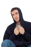 Hombre solo que parece triste Foto de archivo libre de regalías