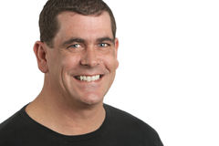 Hombre sonriente fotografía de archivo libre de regalías