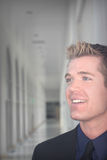 Hombre sonriente de Busines fotografía de archivo libre de regalías