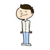 hombre sonriente de la historieta cómica Imagen de archivo