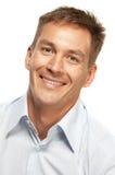 Hombre sonriente hermoso Imagen de archivo