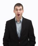 Hombre sorprendido Foto de archivo