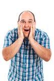 Hombre sorprendido feliz Foto de archivo
