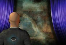 Hombre surrealista Imagen de archivo libre de regalías