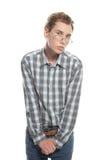 Hombre tímido joven Imagenes de archivo