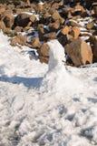 Hombre Tasmania de la nieve Fotografía de archivo libre de regalías