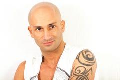 Hombre tatuado Imágenes de archivo libres de regalías