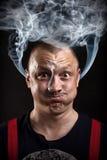 Hombre tensionado Imagen de archivo
