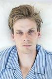 Hombre tensionado Fotografía de archivo libre de regalías