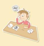 Hombre tensionado libre illustration
