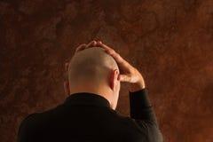 Hombre tensionado Foto de archivo libre de regalías