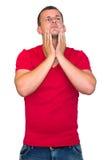Hombre tensionado joven Imagen de archivo libre de regalías