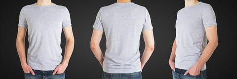 Hombre tres en camiseta Foto de archivo libre de regalías
