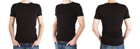 Hombre tres en camiseta Imagen de archivo
