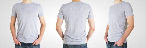 Hombre tres en camiseta Imagenes de archivo
