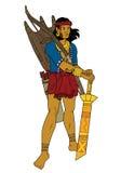 Hombre tribal ilustración del vector