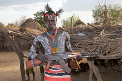 Hombre tribal africano Foto de archivo