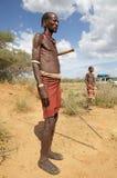 Hombre tribal africano Imágenes de archivo libres de regalías