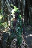 Hombre tribal de la aldea de Vanuatu Imágenes de archivo libres de regalías