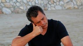 Hombre triste Imagen de archivo libre de regalías