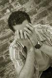 Hombre triste fotografía de archivo
