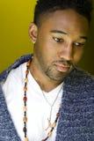 Hombre triste del African-American Imagen de archivo libre de regalías