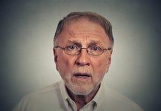Hombre triste sorprendido Imagen de archivo libre de regalías