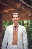 Hombre ucraniano hermoso joven imagen de archivo