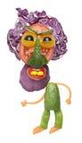 Hombre vegetal enojado con la barba Imágenes de archivo libres de regalías