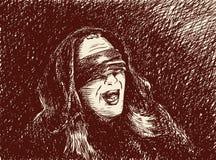 Hombre vendado los ojos de Imagen de archivo libre de regalías