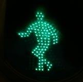 Hombre verde claro 1 del tráfico Foto de archivo libre de regalías