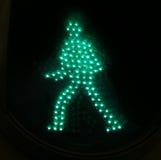 Hombre verde claro 2 del tráfico Foto de archivo