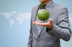Hombre verde del asunto concept Imagen de archivo libre de regalías