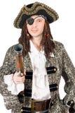 Hombre vestido como pirata fotos de archivo