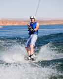 Hombre wakeboarding en el lago Powell 05 Fotografía de archivo libre de regalías