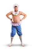 Hombre weared como cuerpo completo del bebé foto de archivo