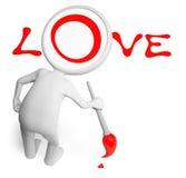 Hombre y amor Imagen de archivo
