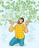 Hombre y dinero que cae libre illustration