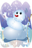 Hombre y ducha de la nieve Imagen de archivo libre de regalías