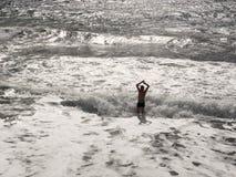 Hombre y el mar Fotos de archivo