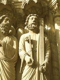 Hombre y escultura del clave Foto de archivo libre de regalías