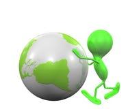Hombre y globo Imágenes de archivo libres de regalías